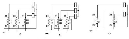 Трансформатор тока на схеме