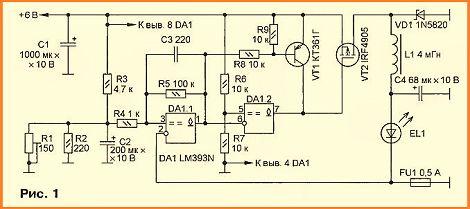89947042 - Схема стабилизатора тока для светодиодов