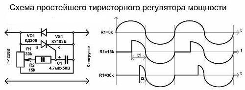 Тиристорный регулятор напряжения своими руками