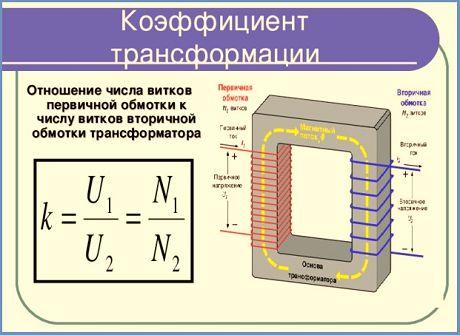 как узнать коэффициент трансформации трансформатора тока