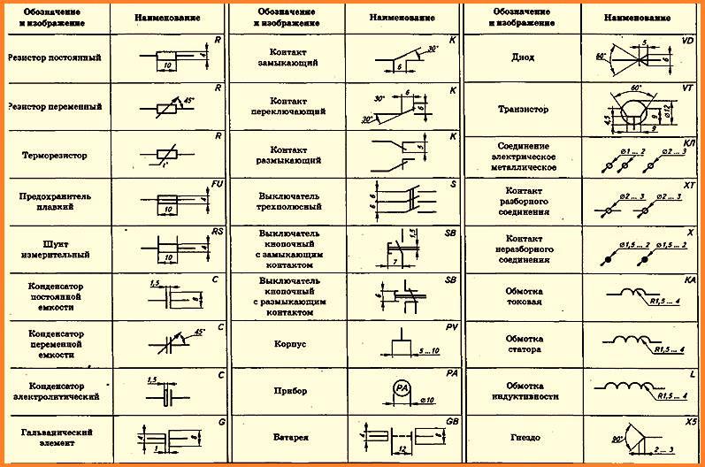 Как читать схемы электрические обозначения