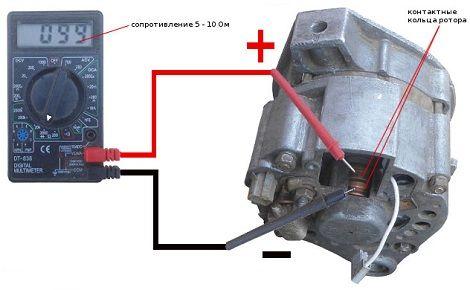 Проверка генератора с помощью мультиметра