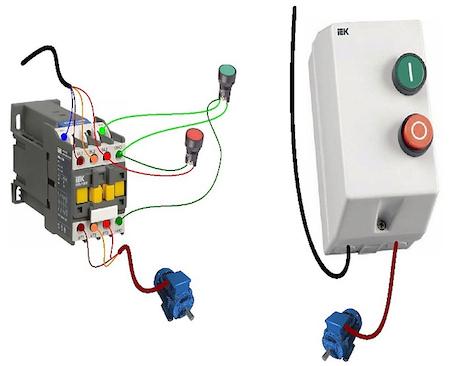 Магнитный пускатель пме 211 схема подключения
