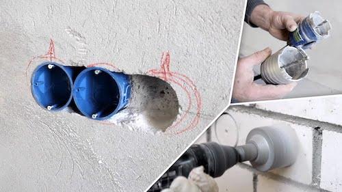 Установка подрозетников своими руками: в бетонную или кирпичную стену
