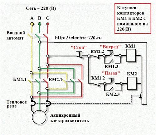 Реверс электродвигателя -