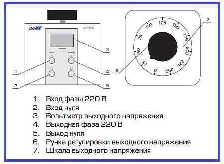 Схема подключения латр-2м