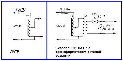 Схема латр подключения