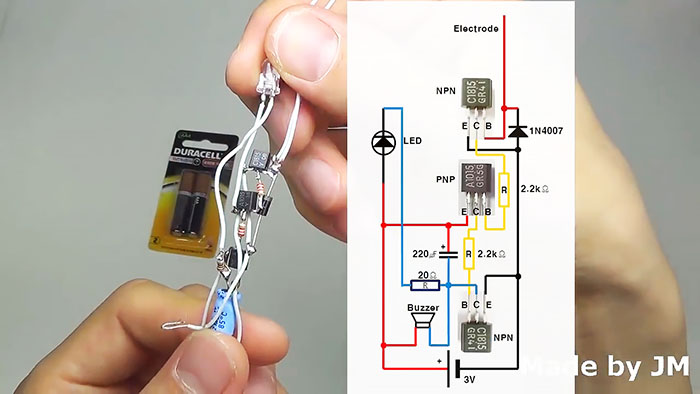 Бесконтактный детектор высокого напряжения своими руками