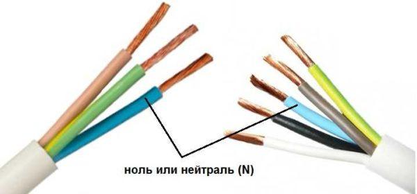Какого цвета нулевой провод? Синий или голубой