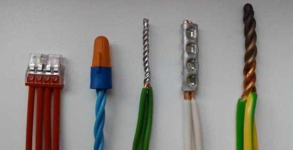 Основные способы соединения проводников в доме или квартире