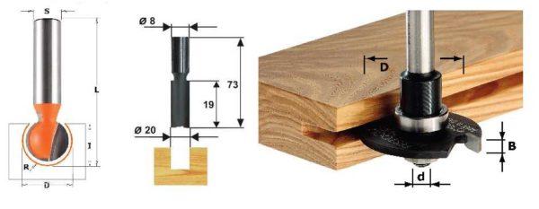 Фрезы для штробления в деревянных стенах