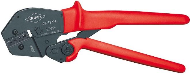 Ручной инструмент для опрессовки кабельных гильз с регулятором силы обжима