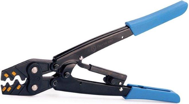 Пресс-клещи для обжима проводов с храповым механизмом