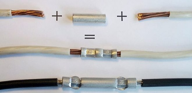Опрессовка проводов гильзами обеспечивает отличный электрический контакт и высокую механическую прочность соединения