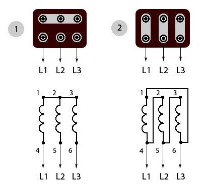 Схема подключения электродвигателей