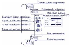 Схема подключения реле времени