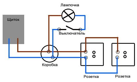 Как правильно подключить выключатель от розетки