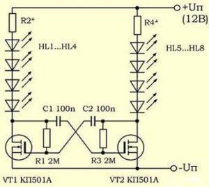 Индикатор напряжения на светодиодах: схема, как сделать своими руками самодельный указатель напряжения в сети