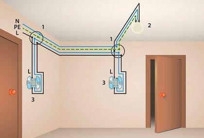 Как подключить переключатель света в квартире