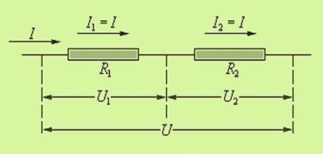Напряжение при последовательном и параллельном соединении резисторов