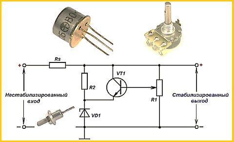 Стабилизатор тока на полевом транзисторе