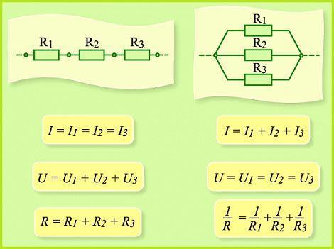 Сила тока при последовательном соединении