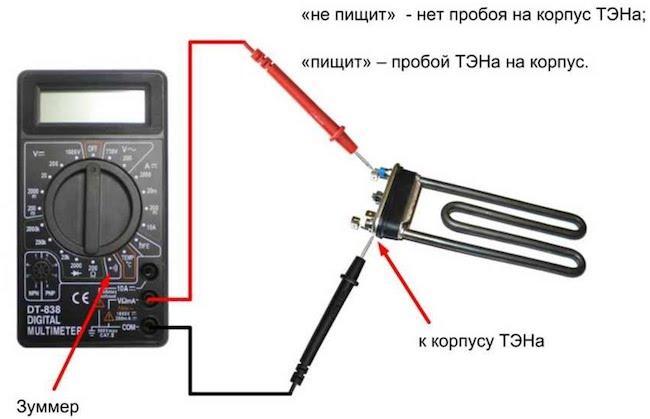 Проверяем ТЭН стиральной машины и измеряем его сопротивление: Инструкция как проверить (прозвонить) ТЭН мультиметром