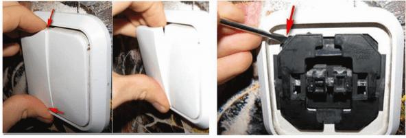 Как снять выключатель со стены – подробная инструкция, демонтаж выключателей: снятие рамки и клавиш