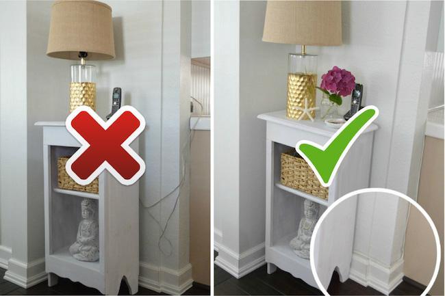 Как спрятать провода в квартире - маскируем кабели +50 идей на фото